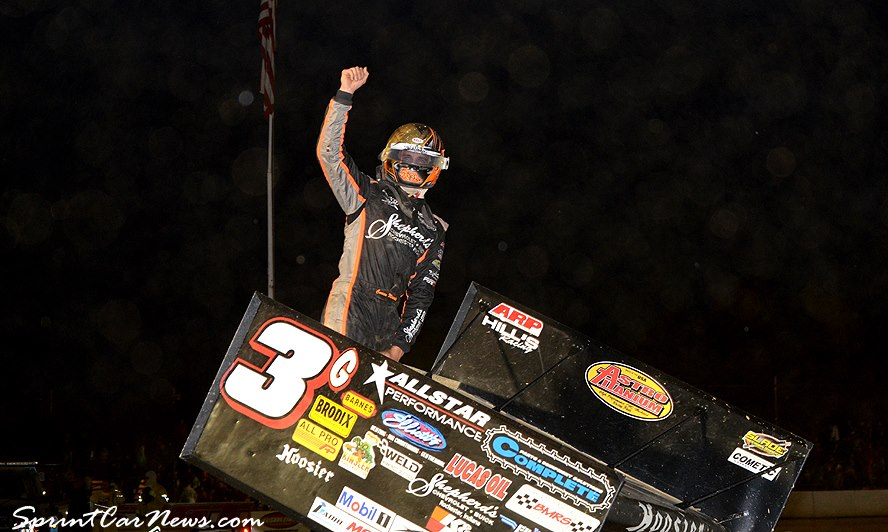 Carson Macedo won the Arctic Cat All-Star Circuit of Champions main event at the Stateline Speedway in Busti, N.Y., on Saturday, June 8, 2018.